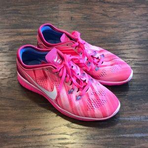 98793b2495f4 Nike Free 5.0 TR Fit 5 Print Women s Training Shoe